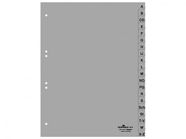 Durable Register A-Z grau DIN A4