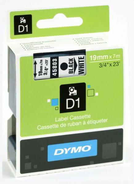 Dymo D1 Schriftband D1, Kunststoff laminiert 7 m x 19 mm