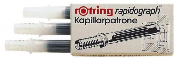 Kapillarpatrone für rotring Rapidograph Tuschefüller schwarz
