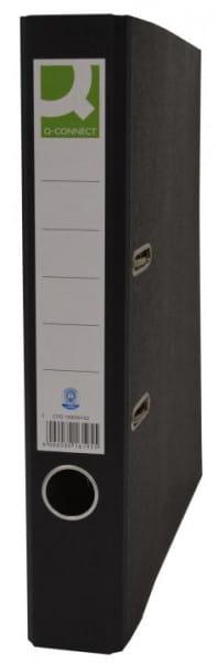 Q-Connect Wolkenmarmor Ordner A4 5cm schmal schwarz